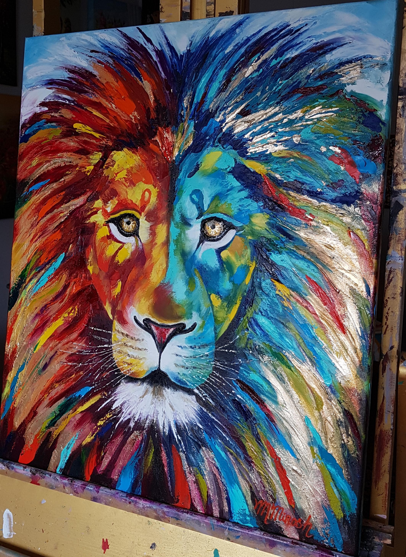 Lion Painting Art
