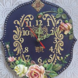 Handmade wall clock.
